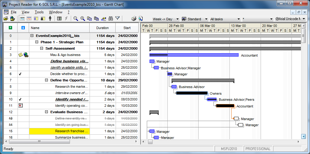 Backuperdays for Microsoft project viewer online